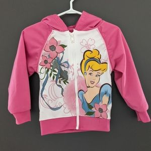 Disney princess pink Cinderella zip up hoodie